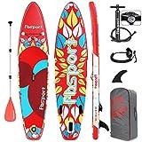 FBSPORT Sup Hinchable, 15 CM de Espesor Tabla Paddle Surf Hinchable, Tabla de Sup Paddleboard, Tabla Stand Up Paddle Board | Medidas: 320×80×15cm