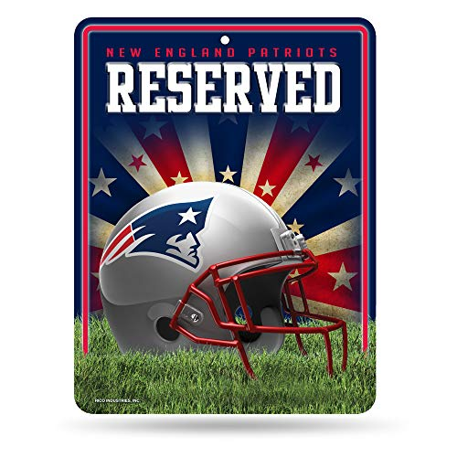 Rico NFL Parkplatzschild aus Metall, hohe Auflösung, PSM1501, Patrioti del New England, S