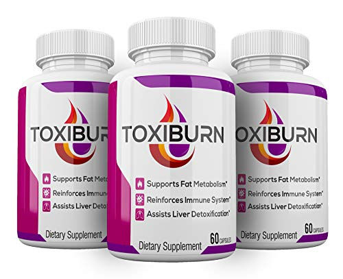 (3 Pack) Toxiburn Weight Loss Pills Liver Cleanse Diet Capsules Supplements Reviews Toxi Burn Advanced Pills (180 Capsules)