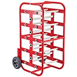 BestEquip Wire Reel Caddy 1Inch & 4/5Inch Axles Wire Spool Rack 43Inch x15Inch x17Inch Wire Caddy Multiple Axles Cable Spool Holder & Dispenser Wire Reel Distribution Storage for Workplace Efficiency