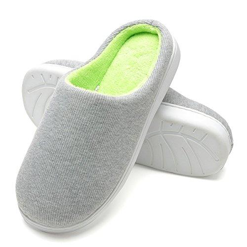 Zapatillas de Casa de Hombre - Zapatillas Casa Ultraligero Cómodo y Antideslizante, Zapatilla de Estar Invierno por Casa para Hombre Fluff Antideslizantes (Gris, EU42/43)