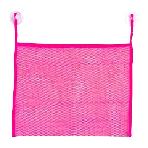 Price comparison product image JAGENIE Baby Kids Bath Bathtub Toy Mesh Net Storage Bag Organizer Holder Bathroom Hot Pink