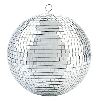 Kicko Mirror Disco Ball - Cool and Fun Silver Hanging Party Disco Ball - 8 Inch Party Decorations, Party Design, Dance and Music Festivals