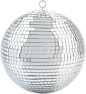 Kicko Mirror Disco Ball - Cool and Fun Silver Hanging Party Disco Ball – 8 Inch Party Decorations, Party Design, Dance and Music Festivals