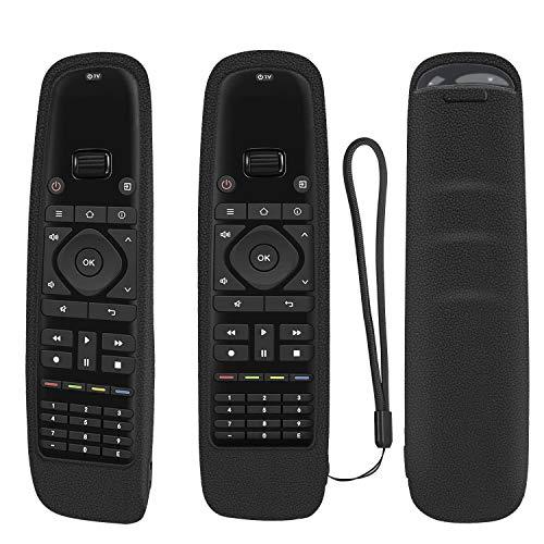 Funda protectora de silicona para mando a distancia universal Sofabaton U1, mando a distancia Bluetooth Harmony, a prueba de golpes, lavable, con bucle (negro)