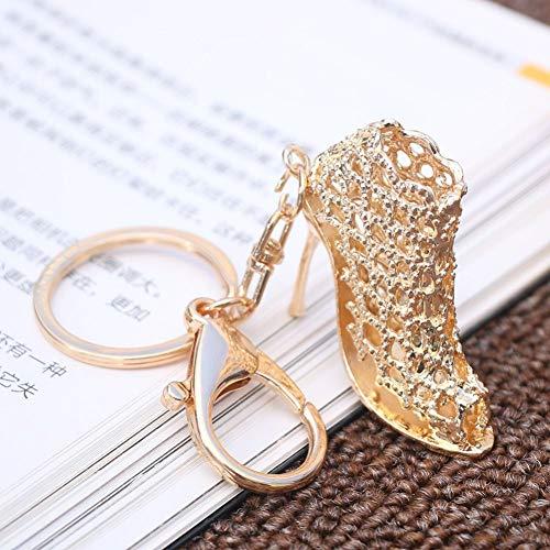YCEOT 1Pc goud hoge hak schoen sleutelhanger kristal hanger portemonnee tas sleutelhanger mannen en vrouwen bagage accessoires