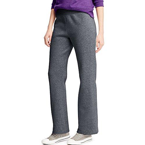Hanes ComfortSoft Women's Open Bottom Leg Fleece Sweatpant_Slt HTR_XL