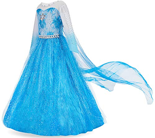 FUNNA Costume for Girls Princess Dress Up Costume Cosplay Fancy Party Blue, 8 Years