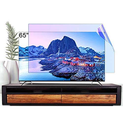 ZSLD Protector De Pantalla De TV Anti Luz Azul De 65 Pulgadas/Película De Filtro Antideslumbrante/Reflectante Que Suaviza La Luz, para LCD LED OLED QLED HDTV,1429 * 804mm