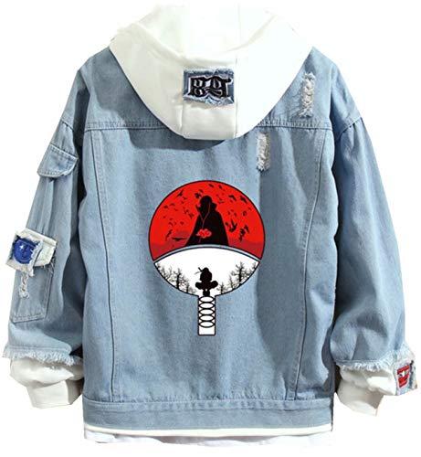 Naruto Denim Kapuzenpullover Herren Manga Denim Jacket Outwear Sweatshirt Damen Anime Hoodie Jeansjacke Unisex Cosplay Denim Jacket Outwear Mäntel