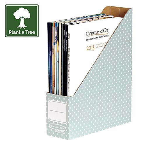 Bankers Box Style - Revistero para documentos, verde y blanco