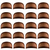 Miayon 20pcs Dark Brown Wig Cap Unisex Natural Nylon Wig Caps for Kids,Girl and Women