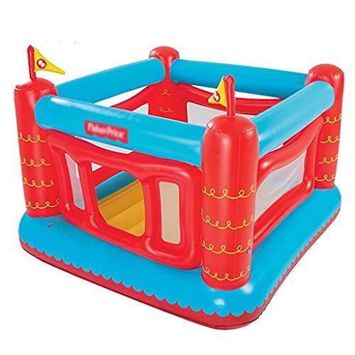 Hüpfburgen Kinderhüpfburg Indoor Kleine Burg Home Kind Babytrampolin Aufblasbares Spielzeugtrampolin Mit Gebläse (Color : Red, Size : 175 * 173 * 135cm)