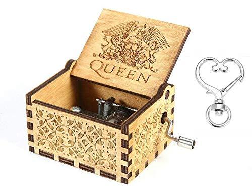 Cuzit Greatest Hits Queen - Caja de m¨²Sica de Madera, Dise?o Antiguo Tallado
