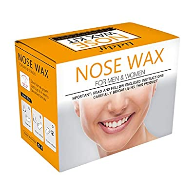 Nose Wax Kit, Anself Nose Hair Removal Wax Kit Wax Applicators Sticks Kit 20pcs Wax Sticks, 1 Pack Wax Beans, 8pcs Mustache Stickers, 1 Measuring Cup, 10 Paper Cups for Removing Nose Eyebrow Hair from Anself
