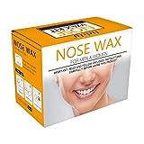 Anself Eliminación de vello en la nariz Kit de cera Aplicadores de cera Palitos Frijoles Pegatinas bigote Taza medidora Copas de papel (#1)