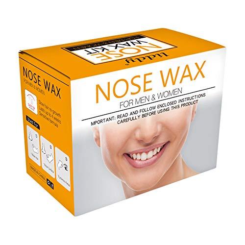 Naso Depilazione Kit, ceretta Applicatori di cera Bastoncini Fagioli Adesivi baffi Misurino Tazze di carta per rimuovere i capelli dal naso al sopracciglio