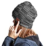 Bluetooth Beanie, 5.0 Bluetooth Hat for Men, Wireless Earphone Beanie Headphones,Unisex Winter Music Hats with HD Stereo Speakers Built-in Microphone,Gifts for Christmas