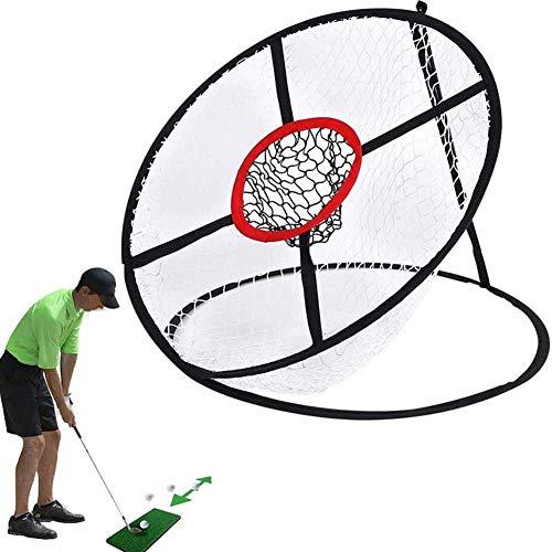 JIEJIE Golf Chipping Net, Golf zusammenklappbarer Chipping Net, Indoor Outdoor Golf Praxis Golfziel Schaukel Praxis, 20.1X23.6Inch QIANGQIANG