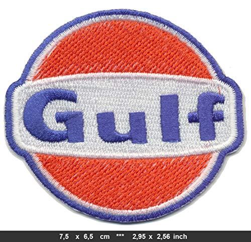 GULF Patch Aufnäher Aufbügler Tankstelle Vintage Motorsport USA Gasoline