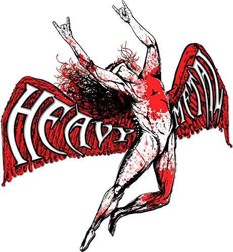 ICARUS THROWS THE HORNS - HEAVY METAL red Vinyl Decal Bumper Wall Laptop Window Sticker 5'