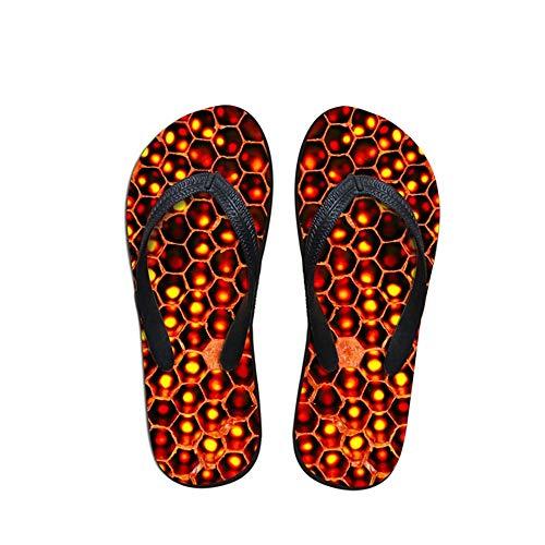 Zuyau Sandales Homme Tongs Homme Mules Mens été Casual Sandales Pantoufles Animaux 3D Tongs en Caoutchouc imprimé pour Chaussures de Plage résistant à l'usure Hommes Flats 12