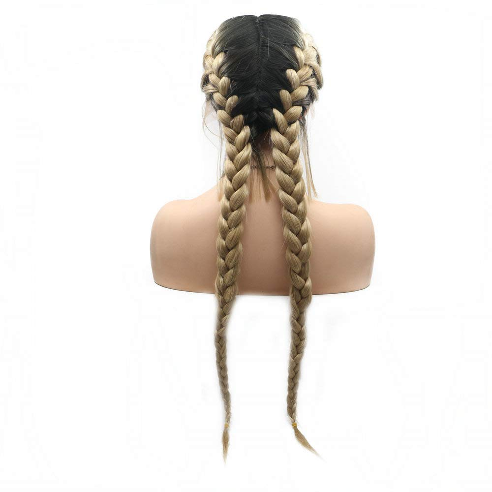 Double Braided Wigs With Baby Sales results Product No. 1 Hair Queen Blonde Drag Lace Ombre