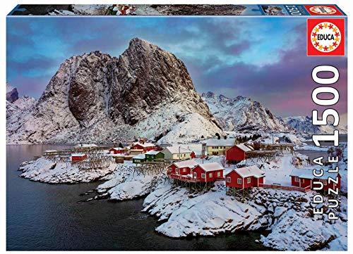 Educa Borras 17976 1500 Lofoten-Inseln, Norwegen Puzzle, Multicolor