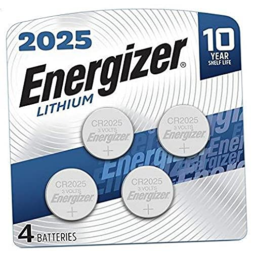 2025 Lithium Coin Cell Battery, 4 Count New Version (4 Count)