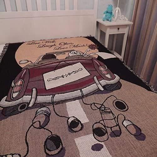 LLYX-Mantas de Invierno, Sofá de la Manta, algodón de Novia de línea Manta del sofá de la Manta, Casual Multifuncional Manta 130cm * 160cm Ideal para Manta de sofá y Cama