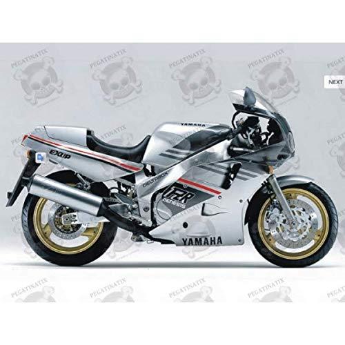 Stickers Decals kompatibel für Yamaha FZR 1000 Baujahr 1989 Silver Grey Originalgröße