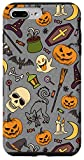 iPhone 7 Plus/8 Plus Halloween Pumpkins Cat Bats Witch Ghost Skull Candy Case