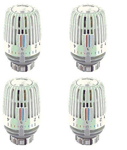 Heimeier Heizkörper Thermostatkopf Typ K weiß 4er Set