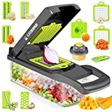 Vegetable Chopper, Onion Chopper, 12 in 1 Veggie Chopper, Vegetable Slicer Dicer, Cutter, Grater,...