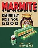 Marmite - Placa de metal nostálgico vintage para decoración de pared, diseño de arte clásico, regalo creativo perfecto para colgar 20 x 30 cm