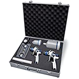 Eastwood Concours Pro Dual Paint Gun and Accessory Kit 1.3 1.7 2.0 Nozzle/Cap Cleaning Kit Air Regulator