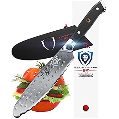 Dalstrong Ultimate Utility Knife - Shogun Series X - 6  Sandwich Knife and Spreader- Japanese AUS-10V - Vacuum Treated - Guard Included