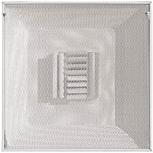 Truaire 1400CB/10 T-Bar Perforated Curved Blade Supply Diffuser, 2' X 2', 10