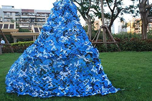 ZHhome Camouflage Mesh Sunshade Sonnenschutz Blau Rot Markisen Solar Mesh Camouflage Canvas 2mx3m 4x4m for Garten Schatten Balkon Terrasse Privacy Protection Cover Pflanze...