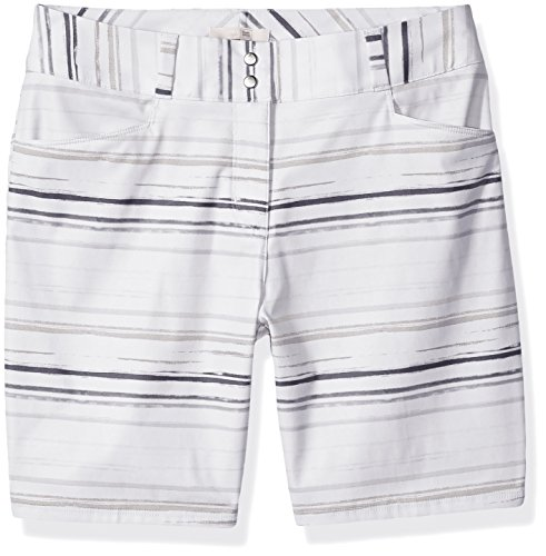adidas Golf Women's Essentials Painted Stripe Shorts, White, Size 8