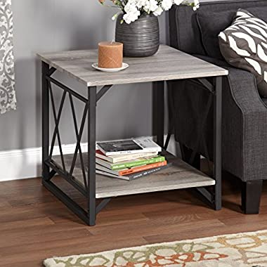 Metro Shop Seneca XX Black/ Grey Reclaimed End Table-* by Simple Living