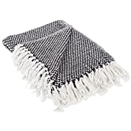 DII Transitional Woven Throw, 50x60, Black