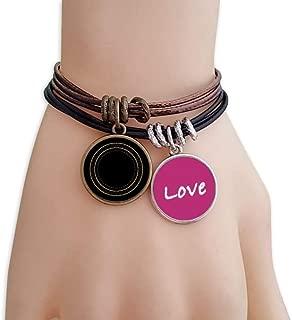 Shape Circle Symbol Totem Pattern Love Bracelet Leather Rope Wristband Couple Set