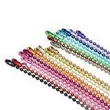 Cadena redonda de la joyería de la cadena del colgante del hierro de la cadena de la etiqueta del grano de la onda-Rosa * 300