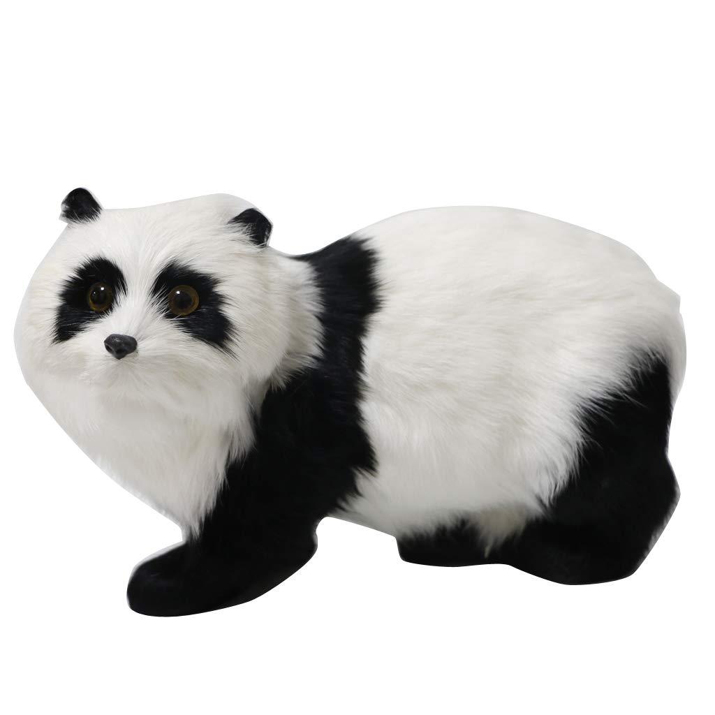 Escultura de Panda de Felpa Artificial para Jardín, Animales en Miniatura, Decoración del Hogar: Amazon.es: Hogar