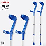 Invacare Safe In Crutches (Pair), Colour: Blue