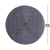 Lygrd 表プレースマットは、耐熱性4の清浄な白い綿エッジ設定が容易 (Color : Dark blue, Size : L)