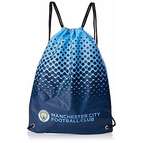 Manchester City FC - Bolsa de deporte con escudo oficial del Manchester City (Talla Única) (Azul/Azul marino)