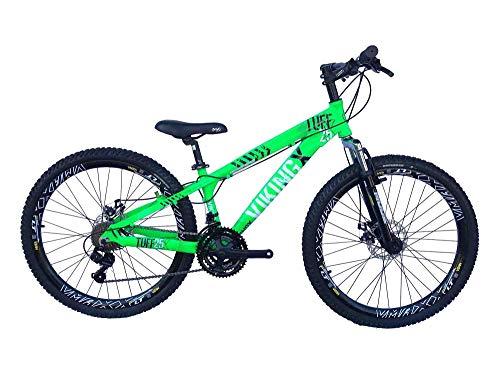 Bicicleta Viking X TUFF25 Freeride Aro 26 Freio a Disco 21 Velocidades Cambios Shimano Preto Azul Vikingx