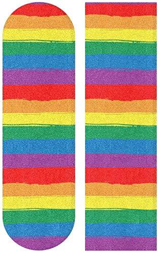 Rainbow Striped Skateboard Grip Tape 1PC Blatt Scooter Deck Sandpapier 9x 33 Geeignet für Kinder, Jungen, Mädchen und Anfänger